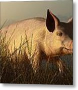 The Pink Pig Metal Print