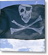 The Pirate Flag Known As The Jolly Metal Print