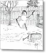 The Pirate In My Backyard - Sketch Metal Print by Robert Meszaros