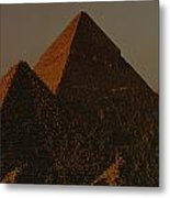 The Pyramids Of Giza In The Late Metal Print by Kenneth Garrett