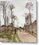 The Road To Saint Cyr At Louveciennes Metal Print by Camille Pissarro