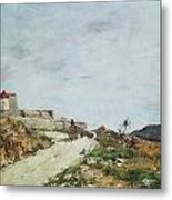 The Road To The Citadel At Villefranche Metal Print by Eugene Louis Boudin