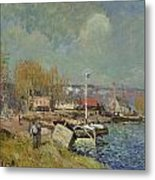 The Seine At Port-marly Metal Print by Alfred Sisley