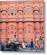 Street Life Of India Metal Print