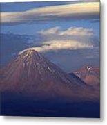 The Volcano Llicancabur. Republic Of Bolivia. Metal Print