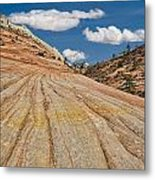 This Is Utah No. 18 - Zions Key Hole Canyon Metal Print