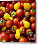 Tomatoes Background Metal Print by Carlos Caetano