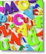 Toy Letters Metal Print by Carlos Caetano