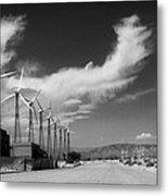 Turbine Town Palm Springs Metal Print