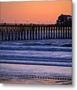 Twilight At Imperial Pier Metal Print