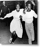 Two Young African Americans Girls, One Metal Print by Everett