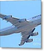 United Airlines Boeing 747 . 7d7838 Metal Print