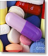Variety Of Pills Metal Print