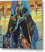 Veiled Woman With Spirit Child Metal Print by Roberta Baker