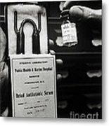 Vials Of Tetanus Antitoxin Metal Print