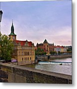 View From The Charles Bridge Revisited Metal Print by Madeline Ellis