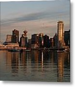 View Of The Waterfront And Downtown Metal Print