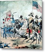 War Of 1812 Battle Of New Orleans 1815 Metal Print by Photo Researchers