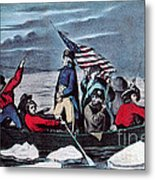 Washington Crossing The Delaware, 1776 Metal Print