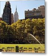 Watering Of The Grass Metal Print by Luis Lugo