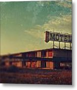 We Met At The Old Motel Metal Print by Laurie Search