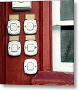 White Doorbells Metal Print