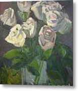 White Roses Metal Print by Lilibeth Andre