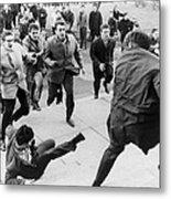 White Students Running Toward An Metal Print