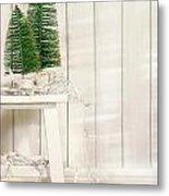 White Tree Lights  Metal Print