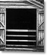 Who Opened The Barn Door Metal Print by Teresa Mucha