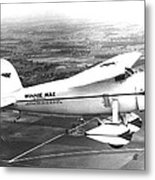 Wiley Posts Plane Winnie Mae Overhauled Metal Print by Everett