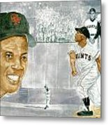 Willie Mays - The Greatest Metal Print