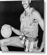 Wilt Chamberlain, Wearing Uniform Metal Print