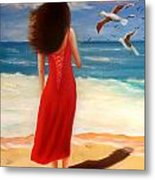 Wind Blown Beach Metal Print by Joni McPherson