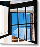 Window Treatment Metal Print