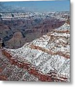 Winter's Touch At The Grand Canyon Metal Print