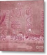 Wishing Well Breast Cancer Tribute Metal Print by Laura Brightwood