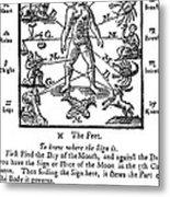 Woodcut, 1750 Metal Print by Science Source