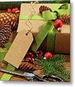 Wrapping Gifts For The Holidays Metal Print by Sandra Cunningham