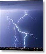 X Lightning Bolt In The Sky Metal Print