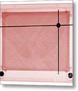 X-ray Of Etch A Sketch Metal Print