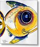 Yellow Study Fish Metal Print