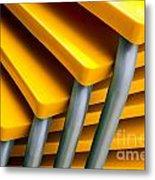 Yellow Tables Metal Print