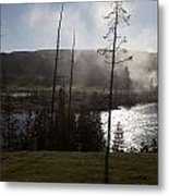 Yellowstone Morning Metal Print by Charles Warren