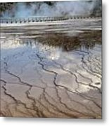 Yellowstone Reflection Metal Print