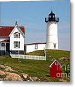 York Harbor  Nubble Lighthouse Metal Print