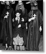 Young Communists Stage An Anti-religion Metal Print by Everett