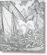 Zheng Yis Pirates Capture John Turner Metal Print by Photo Researchers