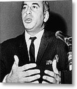 Zulfikar Bhutto At A 1965 Press Metal Print by Everett
