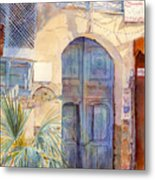 Blue Door  Metal Print by Dorothy Boyer